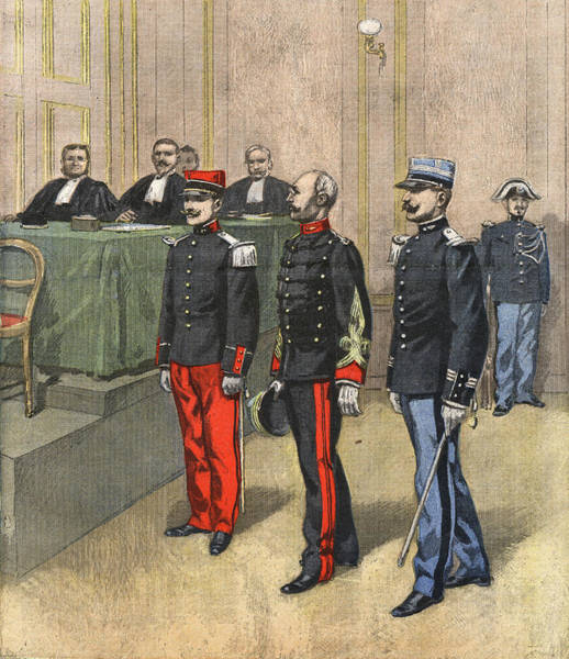 Wall Art - Drawing - Dreyfus Appears For His Court  Martial by Mary Evans Picture Library