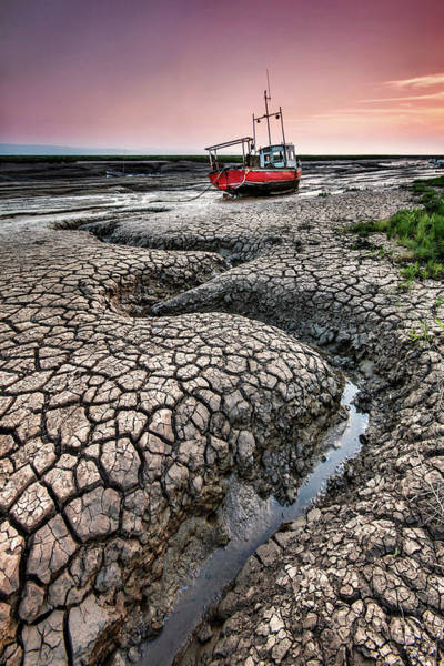 Cracked Photograph - Dried Cracked Mud by Paul Bullen