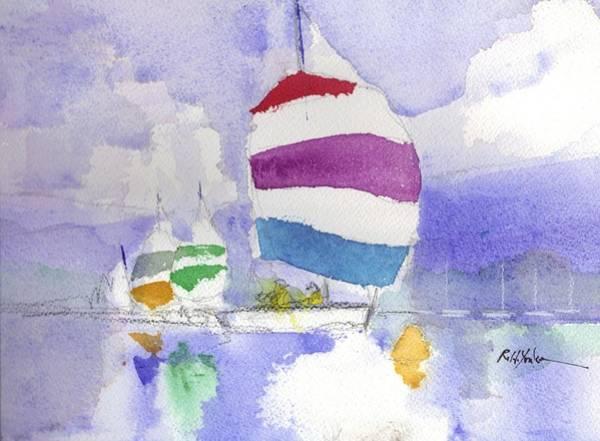 Mooring Painting - Drifter by Robert Yonke