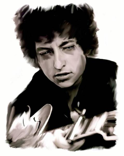 Painting - Drifting Words II   Bob Dylan by Iconic Images Art Gallery David Pucciarelli