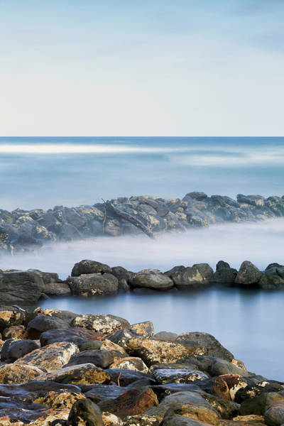 Wall Art - Photograph - Driftwood And Rocks Along The Coast by Ian Ludwig