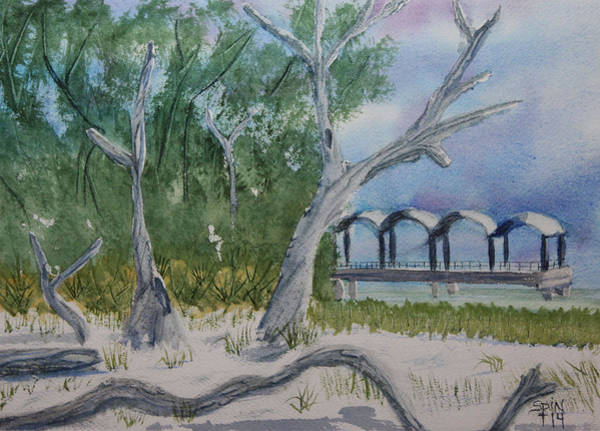 Jekyll Island Painting - Driftwood Beach by Spencer  Joyner