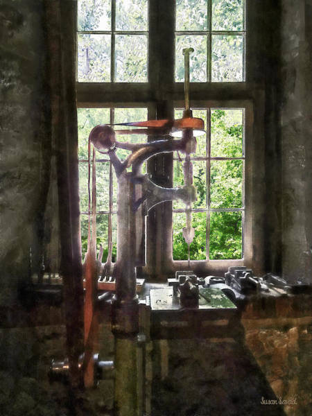 Photograph - Drill Press By Window by Susan Savad