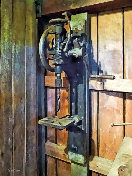 Photograph - Drill Press In Shop by Susan Savad