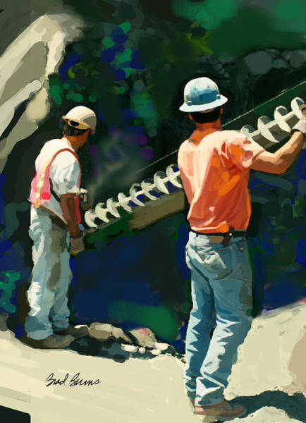 Drill Wall Art - Painting - Drill Team by Brad Burns