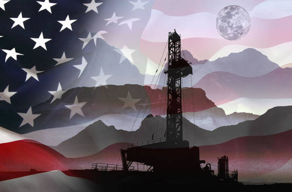 Petroleum Wall Art - Digital Art - Drilling For America by Daniel Hagerman