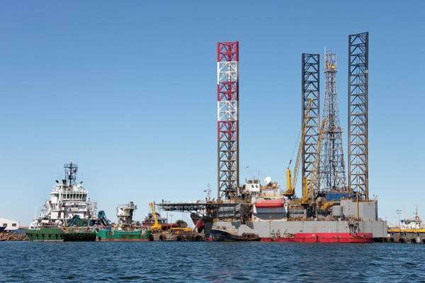 Drilling Rig Photograph - Drilling Platform In Construction by Steve Allen/science Photo Library