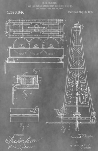 Drawing - Drilling Rig Patent by Dan Sproul