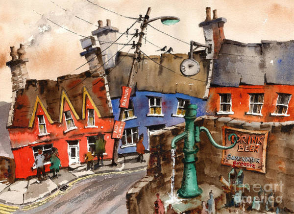 Painting - Drink Beer Save Water by Val Byrne