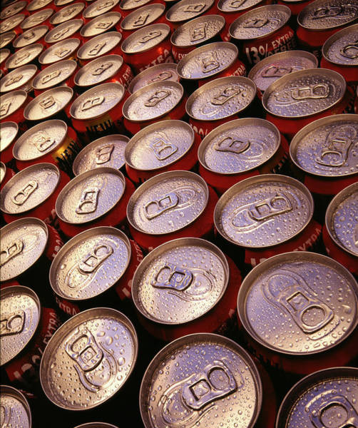 Tab Photograph - Drink Cans by Steve Allen/science Photo Library