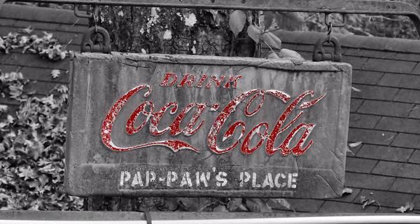 Grandpa Photograph - Drink Coca Cola by Dan Sproul