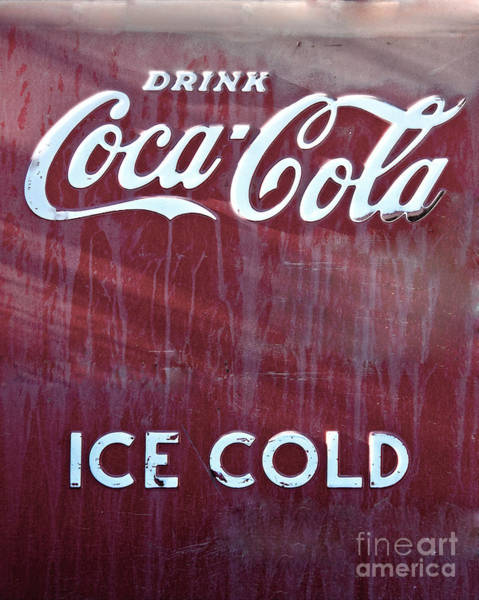 Photograph - Drink Coca Cola Ice Cold by Mae Wertz