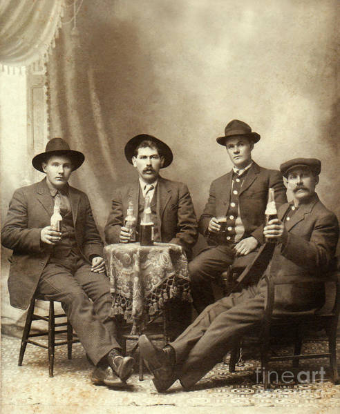 1900 Photograph - Drinking Buddies by Jon Neidert