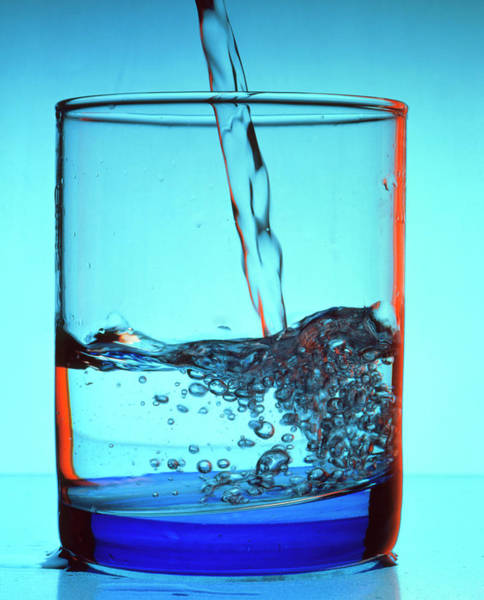 Pouring Photograph - Drinking Water Pouring Into A Glass by Adrienne Hart-davis/science Photo Library