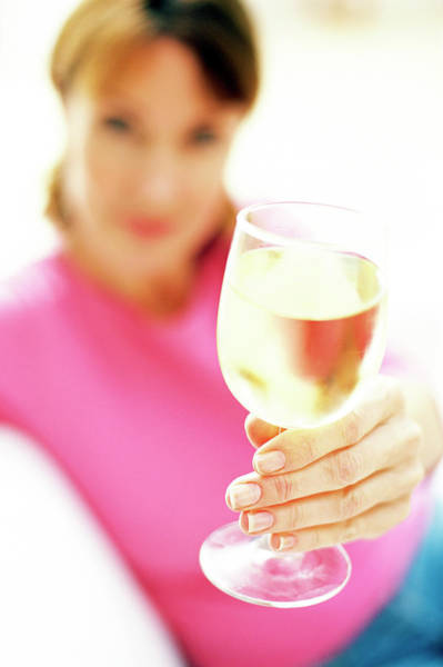 White Wine Wall Art - Photograph - Drinking Wine by Ian Hooton/science Photo Library