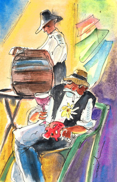 Painting - Drinking Wine In Lanzarote by Miki De Goodaboom