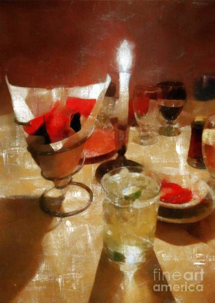 Painting - Drinks Before Dinner by RC DeWinter