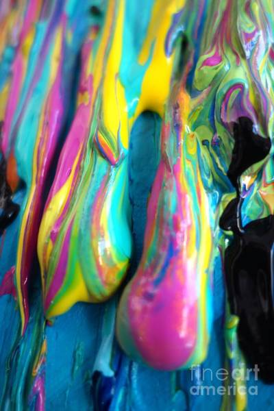 Photograph - Dripping Paint #3 by Jacqueline Athmann