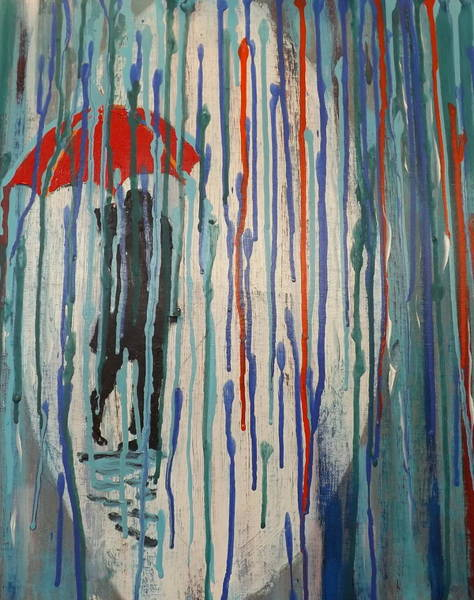 Wall Art - Painting - Dripping by Rich Mason