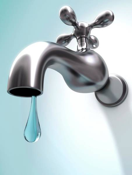 Dripping Water Photograph - Dripping Tap by Ktsdesign/science Photo Library