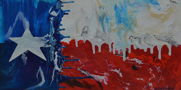Painting - Drips Of Texas Color by Patti Schermerhorn