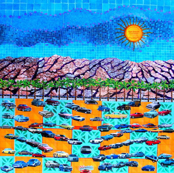 Spring Mountains Mixed Media - Drive 75 Palm Springs Auto Biography by Randall Weidner