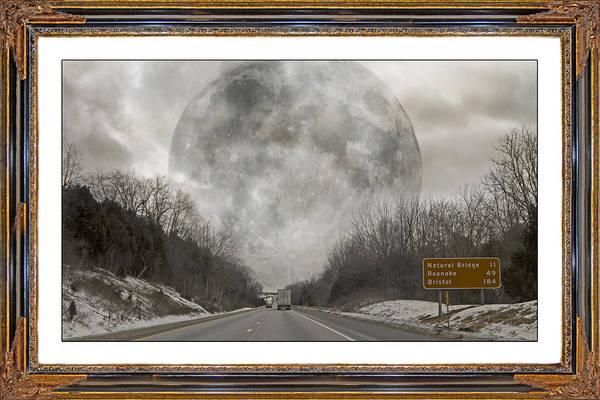 Full Moon Mixed Media - Drive  by Betsy Knapp