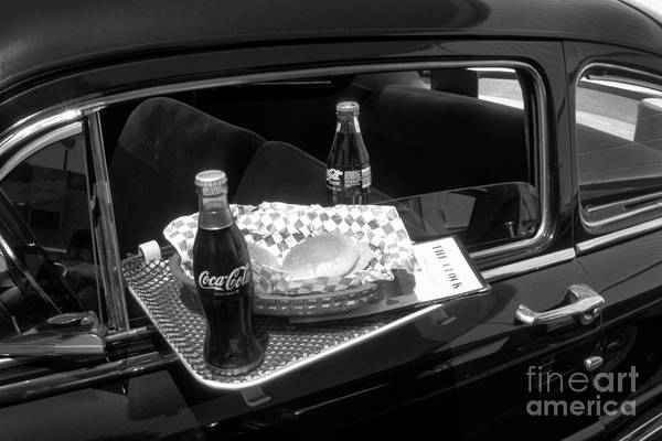 Drive-in Coke And Burgers Art Print