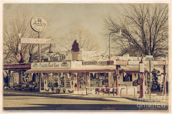 Route 66 Photograph - Drive-in On Route 66 by Medicine Tree Studios