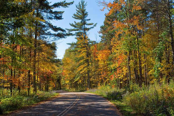 Drive Through Splendor In Minnesota Art Print
