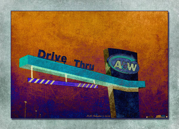 Thru Photograph - Drive Thru by WB Johnston