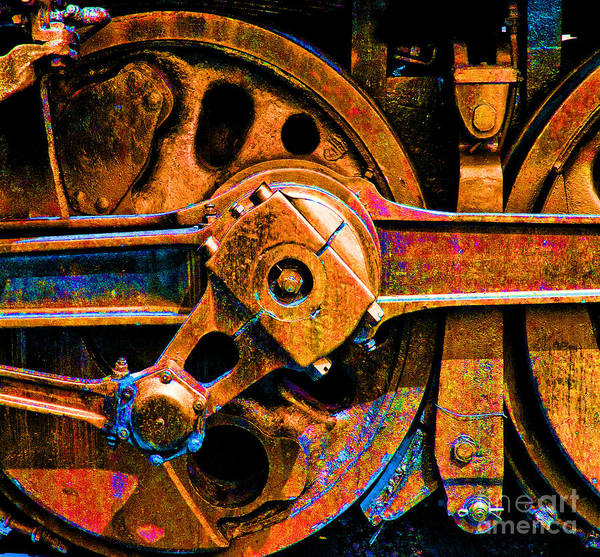 Posterize Photograph - Drive Wheel Posterized by Paul W Faust -  Impressions of Light