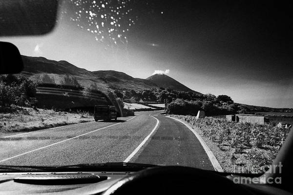 Wall Art - Photograph - Driving Along The Coastal Road To Croagh Patrick County Mayo Republic Of Ireland by Joe Fox