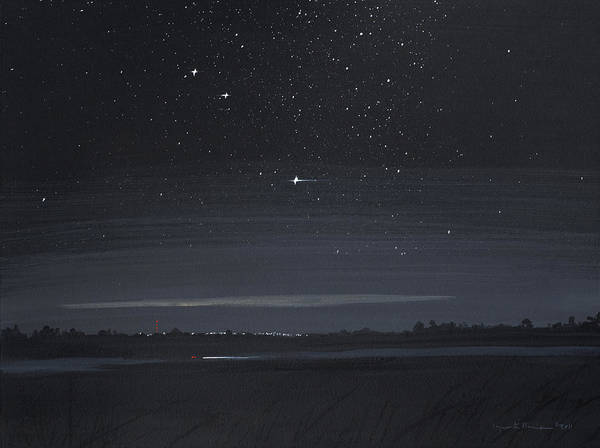 Painting - Driving At Night by Lynn Hansen
