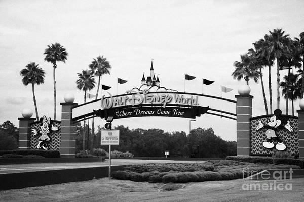 Disney World Photograph - Driving Entrance To Walt Disney World Orlando Florida Usa by Joe Fox