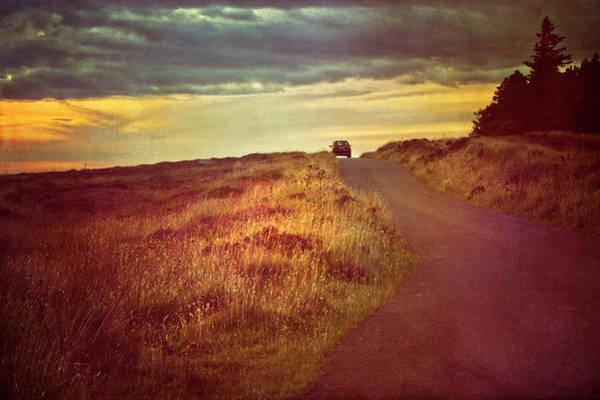 Driving Photograph - Driving Into Sunset by Image By Catherine Macbride