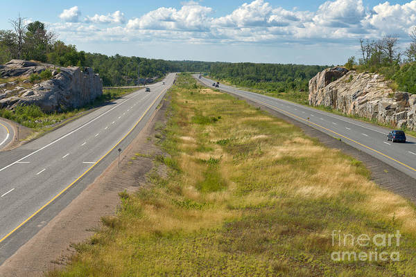 Photograph - Driving North Through Canadian Shield Country by Les Palenik