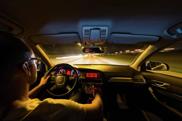 Driving Photograph - Driving The Car At Night by Cristians.ro