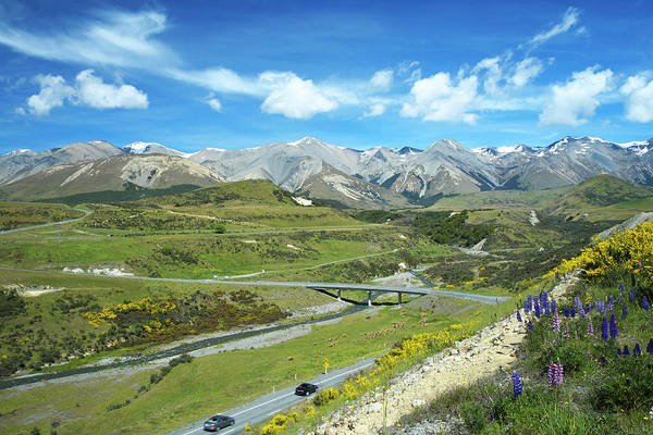 Driving Photograph - Driving The Southern Alps by Simonbradfield
