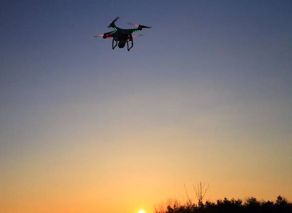 Copter Photograph - Drone At Sunset by Dan Sproul
