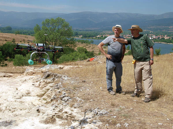 Wall Art - Photograph - Drone Survey Of Neanderthal Fossil Site by Javier Trueba/msf