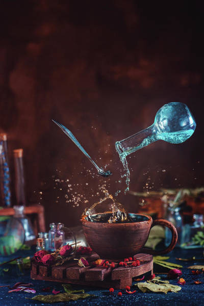 Pouring Photograph - Drop Of Potion by Dina Belenko
