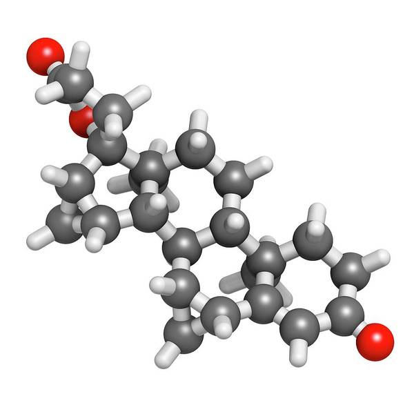 Pharma Wall Art - Photograph - Drospirenone Contraceptive Drug Molecule by Molekuul