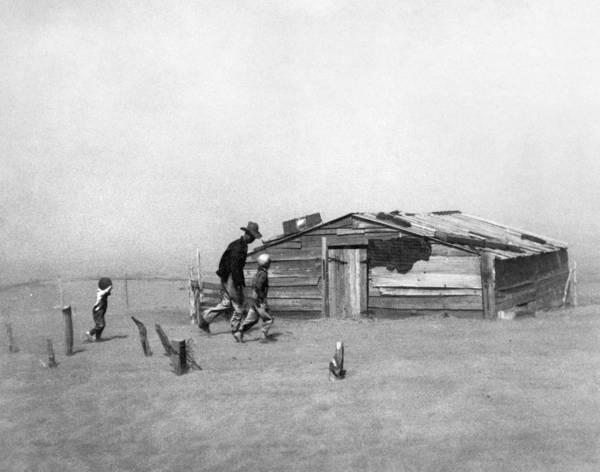 Photograph - Drought Dust Storm, 1936 by Granger