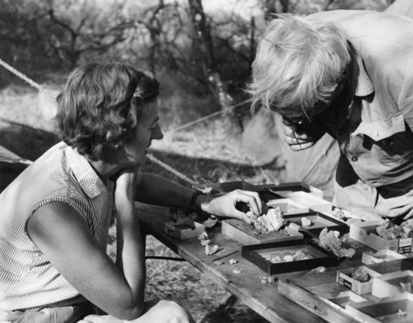 Wall Art - Photograph - Drs. Mary And Louis Leakey by Des Bartlett