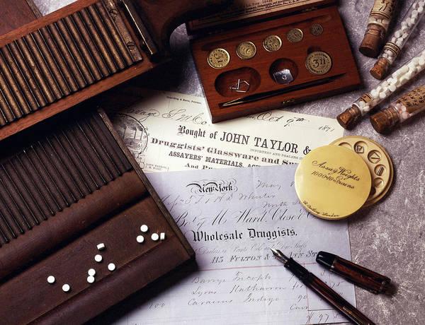 Cursive Photograph - Druggists, Historical Medicine by Brooks/brown