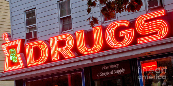 Neon Photograph - Drugs by Olivier Le Queinec