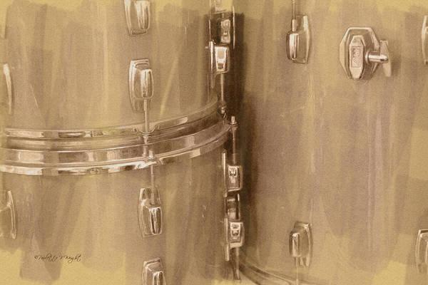 Digital Art - Drum Fittings by Paulette B Wright
