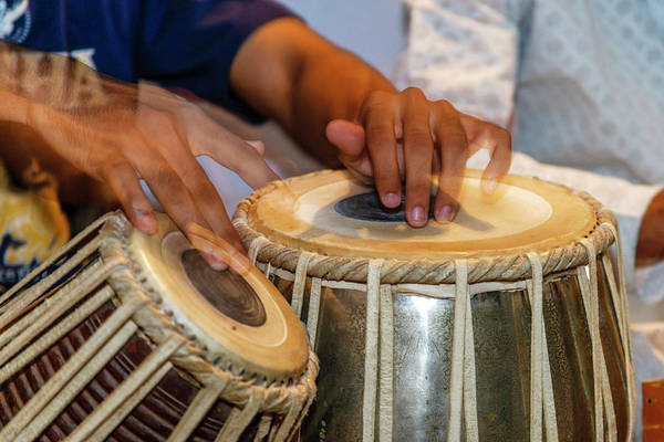 Drum Player Wall Art - Photograph - Drum Player's Hands, Varanasi, India by Ali Kabas