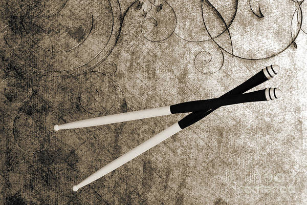 Photograph - Drum Sticks For Jazz Set Drums Photograph Color 3244.01 by M K Miller